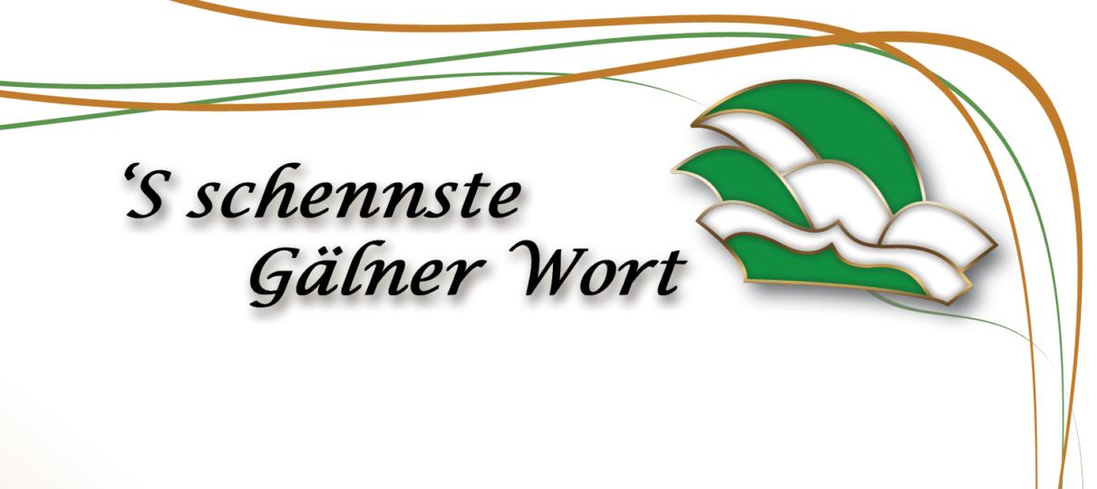 `S schennste Gälner Wort 2018